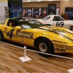 Bakeracing 1987 Escort Racer NO 4 Corvette on display at the Bloomington Gold 2013 Great Hall