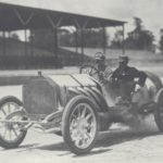 Louis Chevrolet at the wheel of the 1910 Buick racer he drove for Billy Durant's highly successful Buick