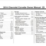 2014 Corvette Owners Manual
