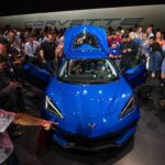 Chevrolet introduces the 2020 Corvette Stingray, the brand's first-ever production mid-engine Corvette, Thursday, July 18, 2019 in Tustin, California. The 2020 Stingray features a new 6.2L Small Block V-8 LT2 engine producing 495 horsepower and 470 lb-ft of torque when equipped with performance exhaust. The mid-engine layout provides better weight distribution, better responsiveness and control, as well as the fastest 0-60 time of any entry-level Corvette. The 2020 Chevrolet Corvette Stingray goes into production in late 2019 and will start under $60,000. (Photo by Dan MacMedan for Chevrolet)