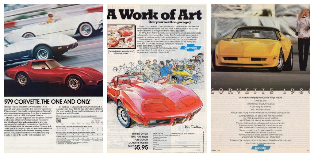 1979 and 1980 Corvette Magazine Advertisements