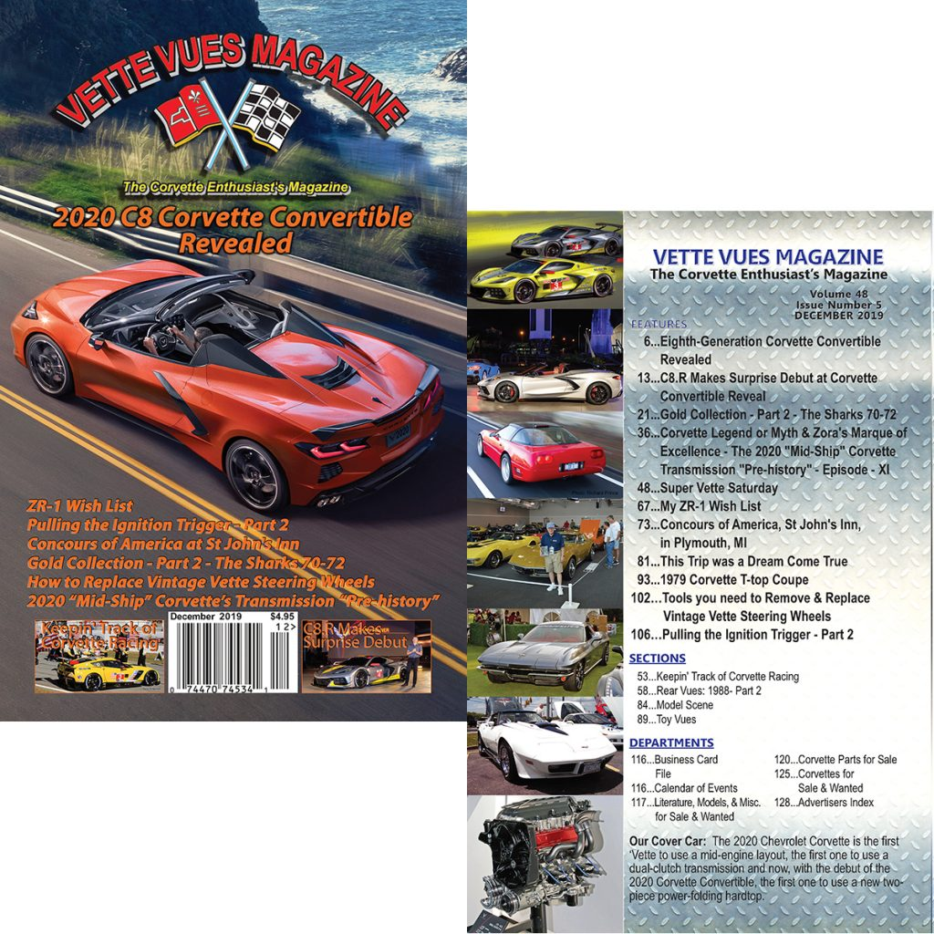Vette Vues Magazine, December 2019, Volume 48, Issue Number 5